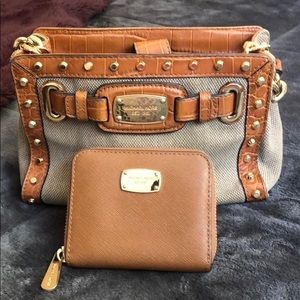 Mini purse and matching wallet